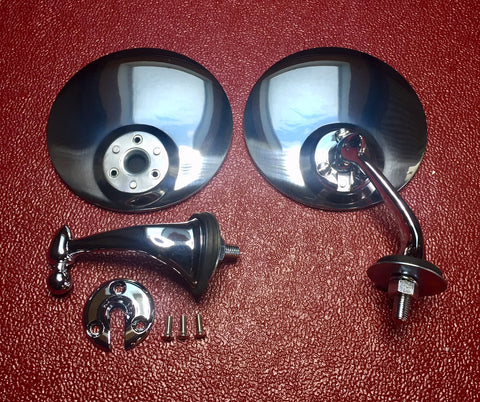 Austin Healey Sprite A pair of side mirrors for windshield posts-no drilling required! Exterior - Bugeye