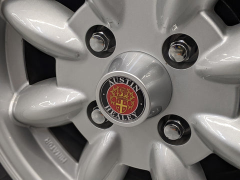 Austin Healey Center Cap Emblem for Minilite Wheels (sold individually)