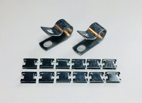 Austin Healey Sprite Bugeye door seal clips Interior - Bugeye