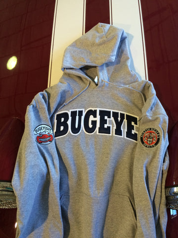 Austin Healey Sprite Bugeye University sweatshirt/ hoodie with Round Austin Healey Sprite Sleeve logo Shirts - Bugeye