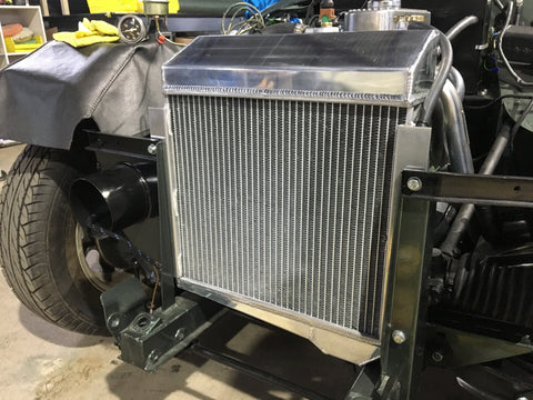 Austin Healey Sprite Aluminum Radiator for 948, 1098 and 1275 Sprites Mechanical - Bugeye