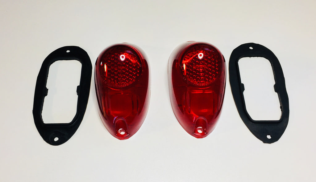 Austin Healey Sprite Tail light lens kit (2 lenses, 2 gaskets) Exterior - Bugeye