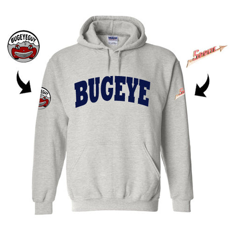Austin Healey Sprite Bugeye University Hoodie with Sprite Arrow Shirts - Bugeye