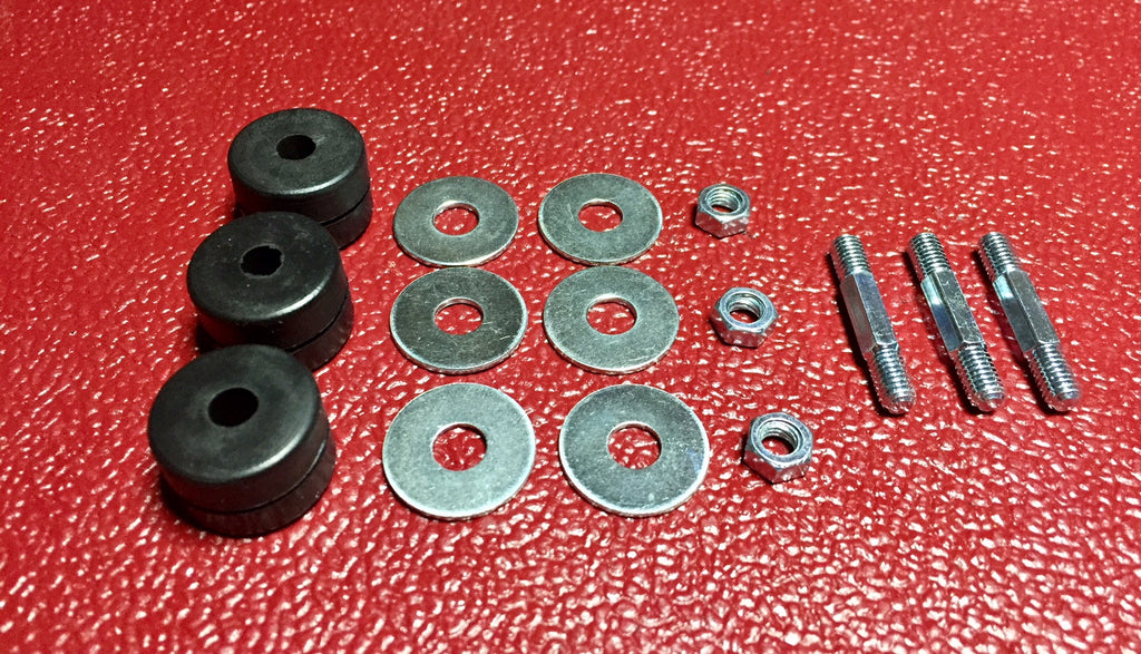 Austin Healey Sprite Windshield wiper motor mounting kit-Grommets and studs  - Bugeye