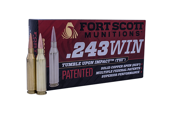 243 Win SCS® TUI™ - 58Gr Rifle Ammo