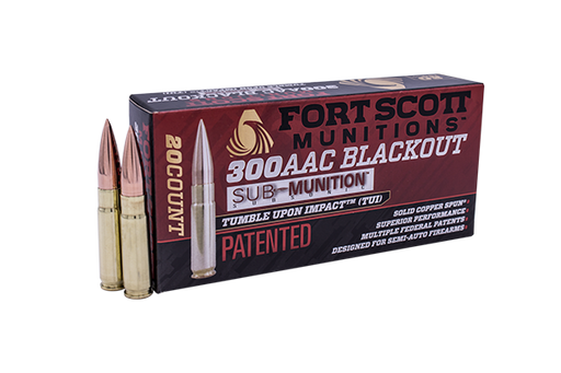 300 Blackout Sub-Munition SCS® TUI™ - 190Gr Rifle Ammo