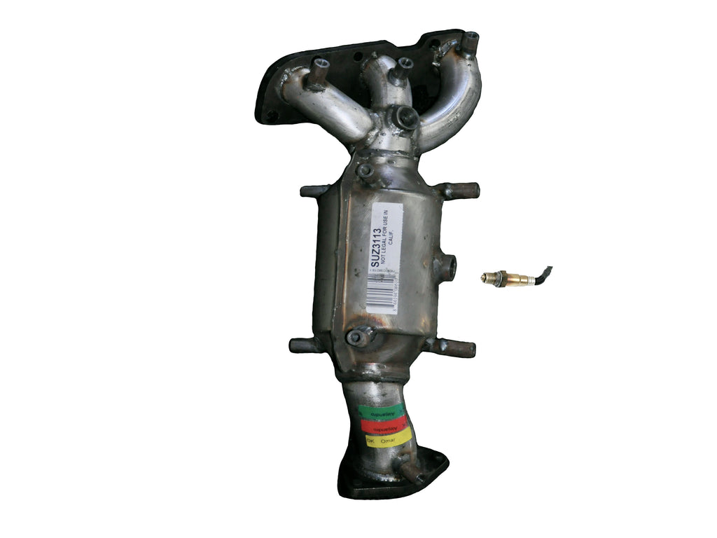 Pacesetter 325369 Raw Steel Direct Fit Catalytic Converter for 2007-2011 Hyundai Veracruz V6 3.8 Rear Non C.A.R.B. Compliant