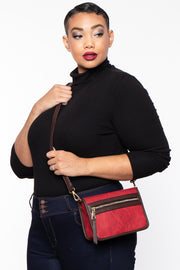 Curvy Sense -Plus_Size_Womens- Medellin Convertible Belt Bag - Red