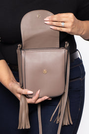 Curvy Sense -Plus_Size_Womens- Bethlehem Bee Faux Leather Crossbody - Stone