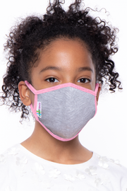 Curvy Sense -Plus_Size_Womens- Kids Washable Face Mask With Filter Pocket - 1 Mask + 10 Filters