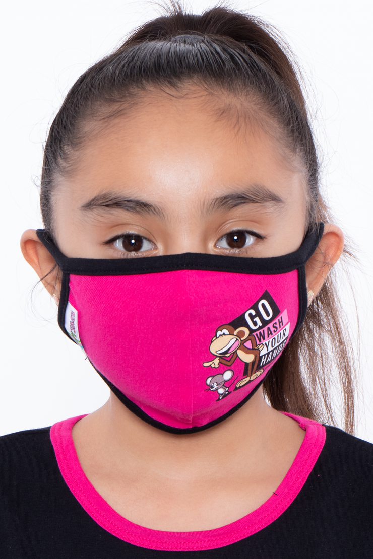 Kids Washable Bobby Jack Printed Face Mask - Ages 4 - 11
