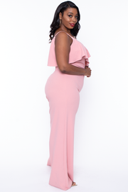 Plus Size Alizae Wide Leg Jumpsuit - Mauve