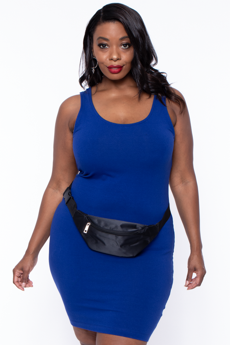 Curvy Sense -Plus_Size_Womens- Fanny Pack Belt - Black