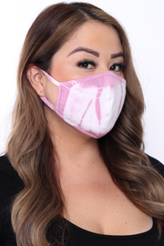 Curvy Sense -Plus_Size_Womens- Washable  & Reusable Hand Tie-Dyed Face Mask - Fall Collection