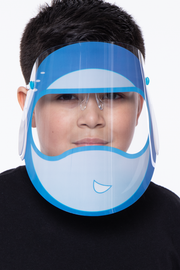 Curvy Sense -Plus_Size_Womens- Kids Graphic Transparent Clear Face Shield