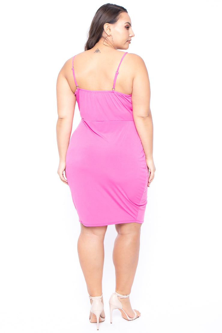 Plus Size Adrena Mini Dress - Pink