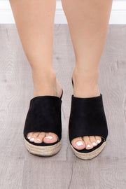 Alabama Slammer Slip On Wedges - Black