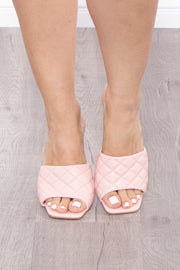 Creamsicle Delight Quilted Mules - Blush