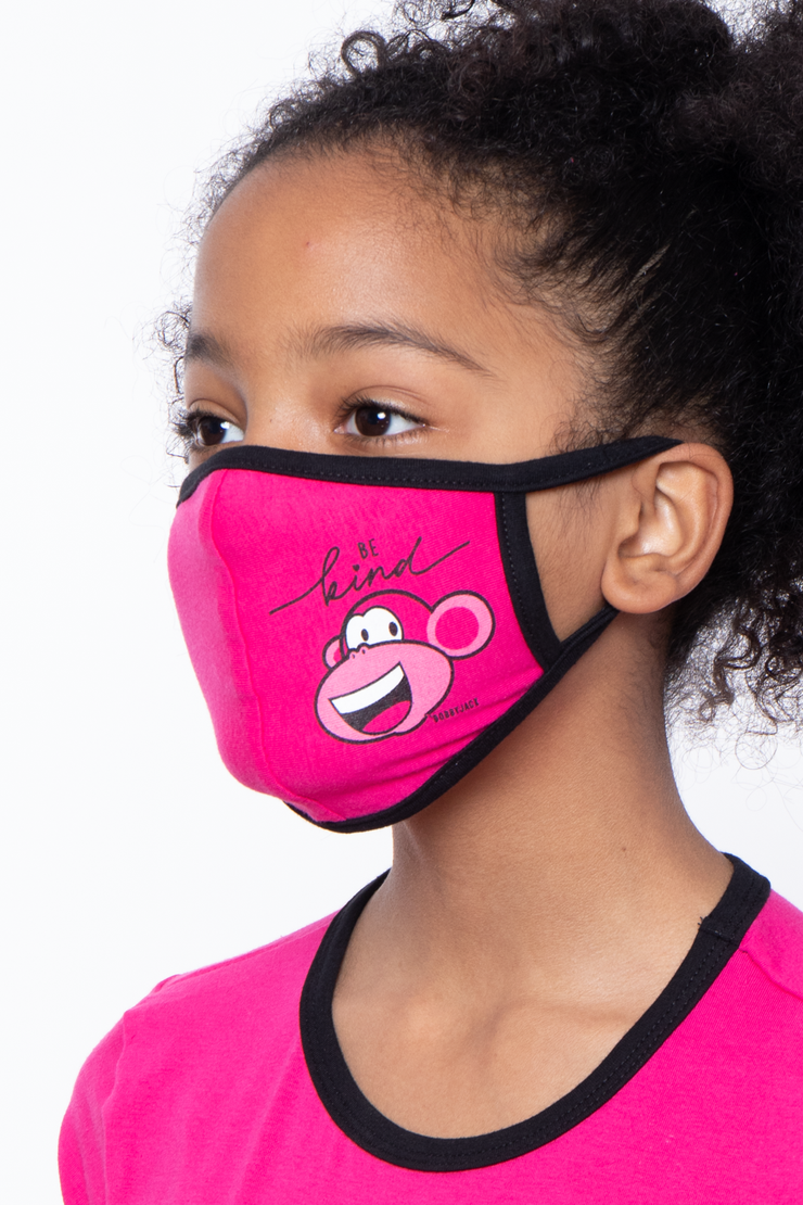 Curvy Sense -Plus_Size_Womens- Bobby Jack Kids Mask & Shirt Set -  Be Kind