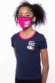 Curvy Sense -Plus_Size_Womens- Bobby Jack Kids Mask & Shirt Set - Don't Touch My Bubble