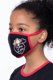 Curvy Sense -Plus_Size_Womens- Bobby Jack Kids Mask & Shirt Set - More Love