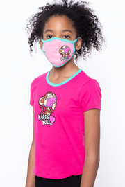 Curvy Sense -Plus_Size_Womens- Bobby Jack Kids Mask & Shirt Set - Miss You