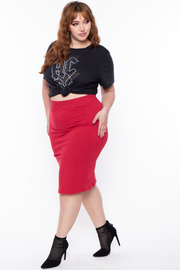 Curvy Sense -Plus_Size_Womens- Plus Size AC/DC Graphic Tee - Black