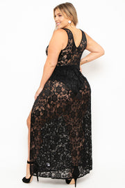 Plus Size Alexandra 2.0 Lace Dress - Black