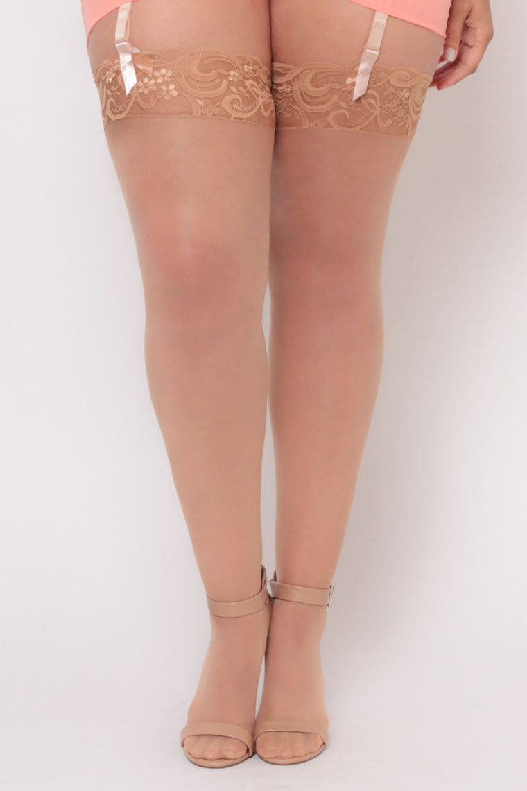 Dreamgirl Thigh Hi Stocking - Nude