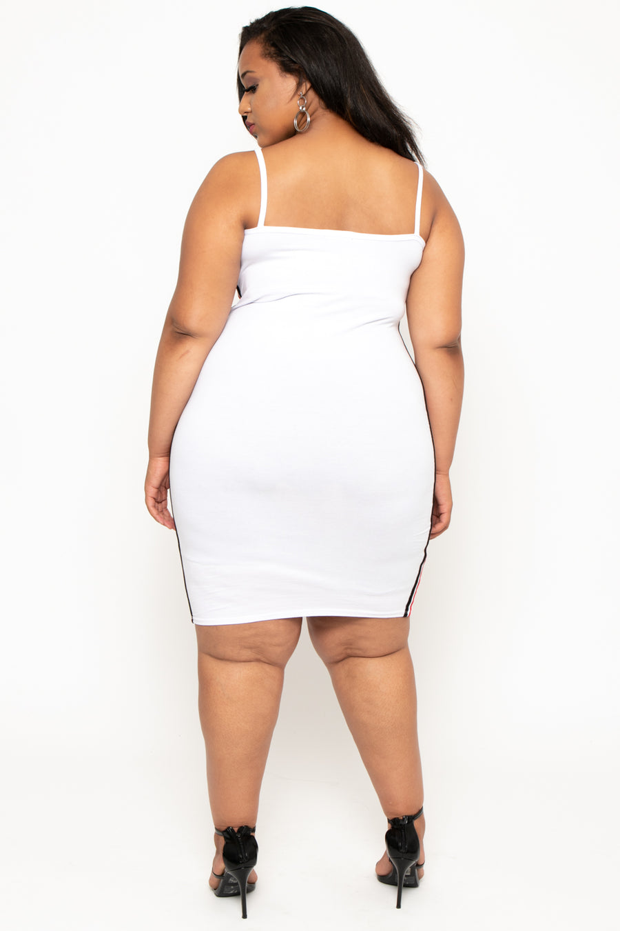 Plus Size Alley Cami Dress - White