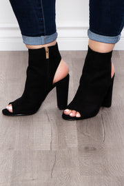 Long Island Cut Out Booties - Black