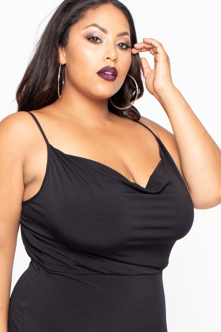 Plus Size Adrena Mini Dress - Black
