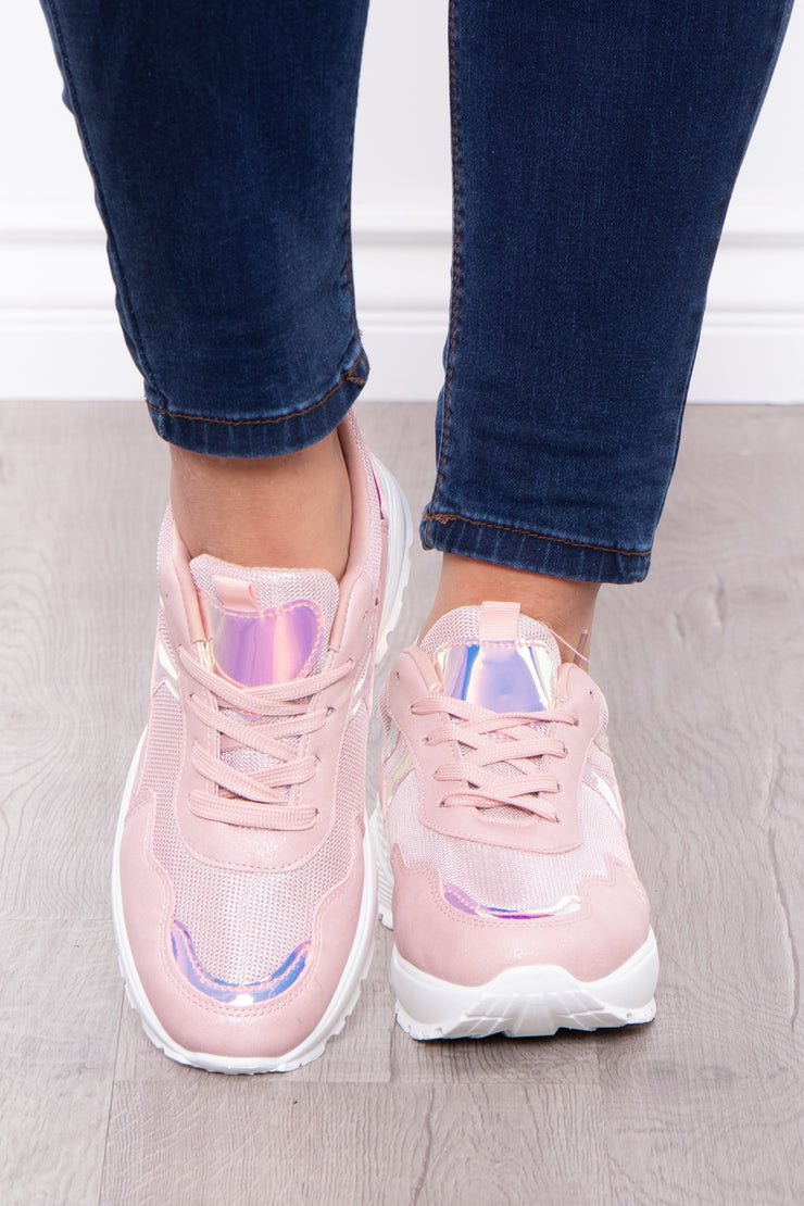 Happy Hour Dad Sneakers - Mauve