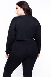 "Plus Size ""Savage"" Graphic Top - Black"