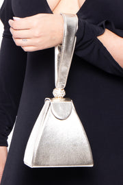 Curvy Sense -Plus_Size_Womens- Monrovia Structured Pyramid Bag - Gold