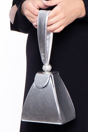 Monrovia Structured Pyramid Bag - Silver