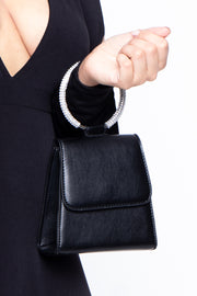 Curvy Sense -Plus_Size_Womens- Geneva Structured Mini Envelope Bag - Black