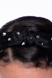 Knotted Spiked Headband - Black