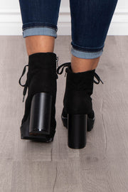 Jagertee Lace-Up Platform Boots - Black