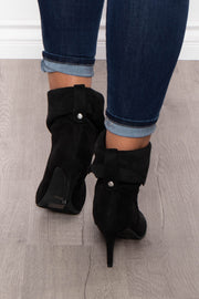 Mickey Slim Pointy Slouch Bootie - Black