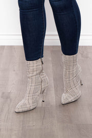Guinness Plaid Sock Boots - Grey