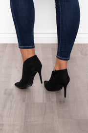 Bloody Mary Stiletto Bootie - Black