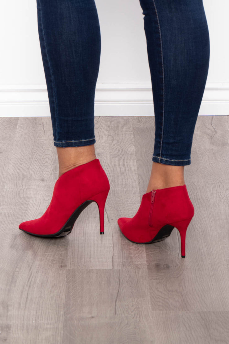 Bloody Mary Stiletto Bootie - Red