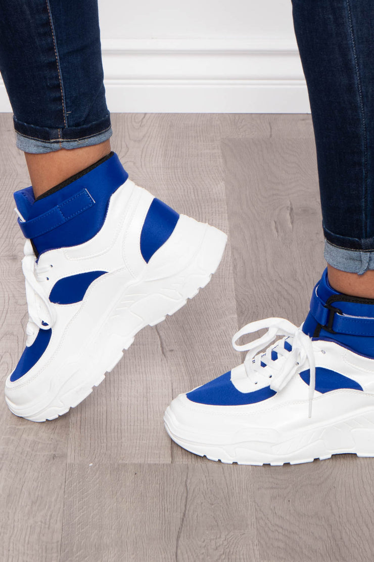Bramble Chunky High Top Sneakers - Royal Blue