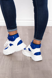 Bramble Chunky High Top Sneakers - Royal Blue - Curvy Sense