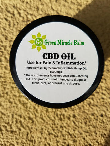 Pain Relief CBD Balm 1000mg - Go Green Miracle Balm