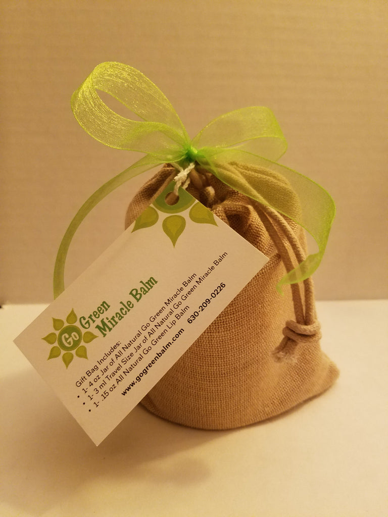 Gift Bag -  4 OZ Jar - Go Green Miracle Balm