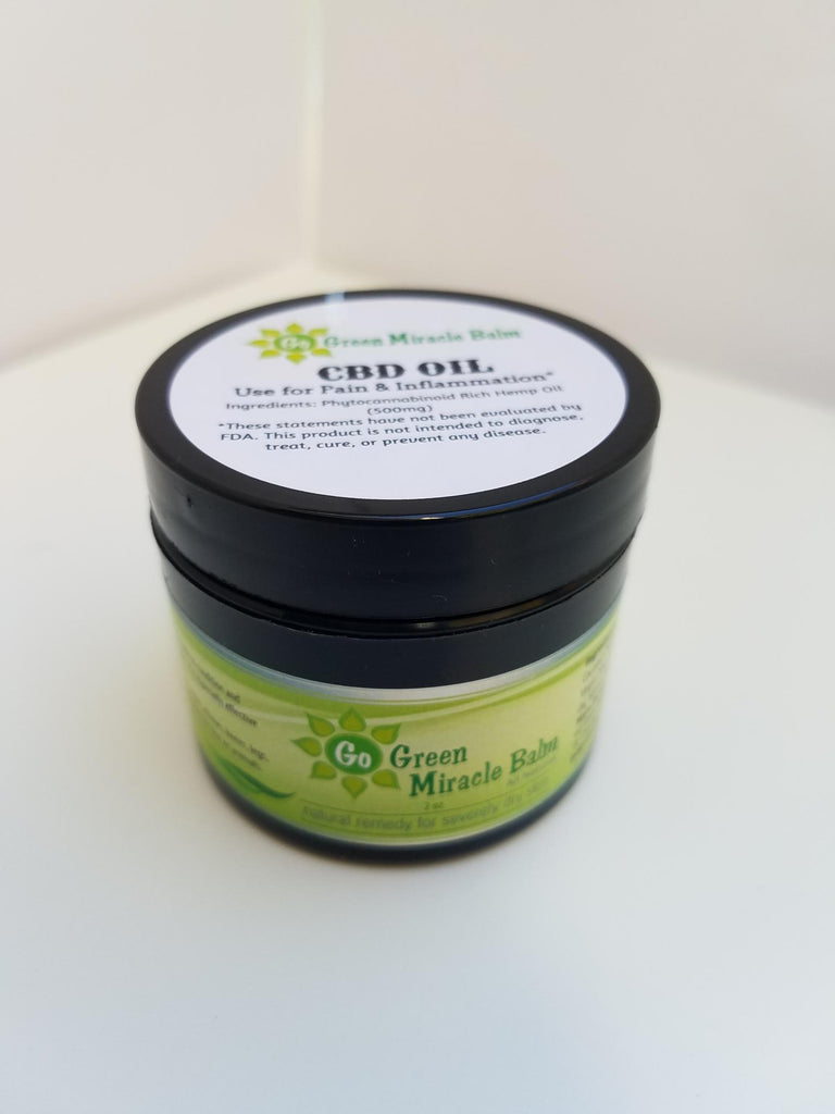 Pain Relief CBD Balm 500mg - Go Green Miracle Balm