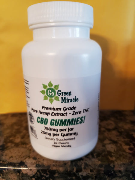 NEW Gummies! 25mg Per Gummie. 750mg per Jar -Hemp Derived, Full Spectrum, Organic Hemp.VEGAN!