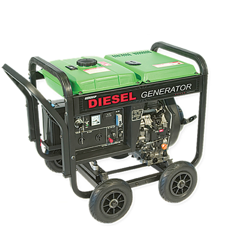GENQUIP Diesel Generator 3500W Electric Start 6.6HP Dual Power Outlets